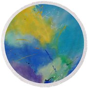 Abstract 564897 Round Beach Towel