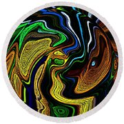Abstract 6-10-09-a Round Beach Towel