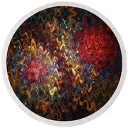 Abstract 60816 Round Beach Towel