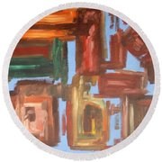 Abstract 611 Round Beach Towel