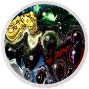 Abstract 623165 Round Beach Towel