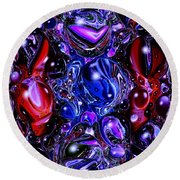Abstract 62316.6 Round Beach Towel