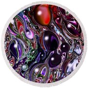 Abstract 62316.7 Round Beach Towel