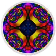 Abstract 650 Round Beach Towel