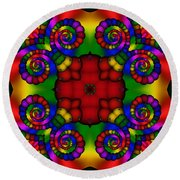 Abstract 651 Round Beach Towel