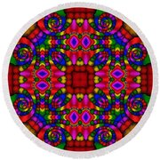 Abstract 652 Round Beach Towel