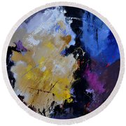 Abstract 660101 Round Beach Towel