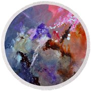 Abstract 6601012 Round Beach Towel