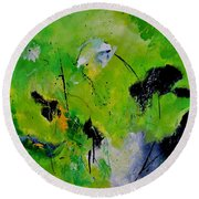 Abstract 660160 Round Beach Towel