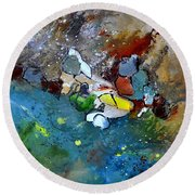 Abstract 66018002 Round Beach Towel