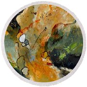 Abstract 66018012 Round Beach Towel