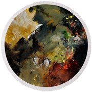 Abstract 6611402 Round Beach Towel