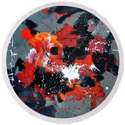 Abstract 6611403 Round Beach Towel