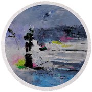 Abstract 6611602 Round Beach Towel