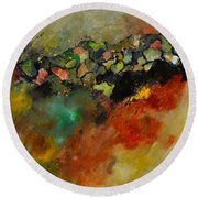 Abstract 6611604 Round Beach Towel