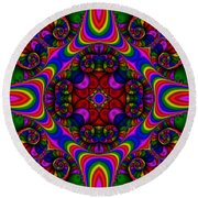 Abstract 667 Round Beach Towel