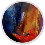 Abstract  67900142 Round Beach Towel