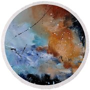 Abstract 684124 Round Beach Towel
