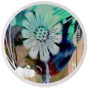 Abstract 6875 Round Beach Towel