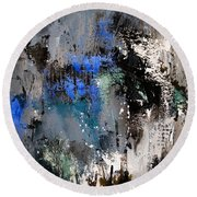 Abstract 69 54525 Round Beach Towel