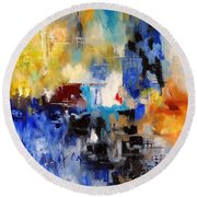 Abstract 69070 Round Beach Towel