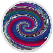 Abstract 7 Round Beach Towel