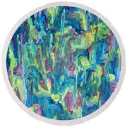 Abstract 700 Round Beach Towel