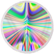 Abstract 701 Round Beach Towel