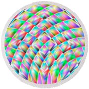 Abstract 713 Round Beach Towel