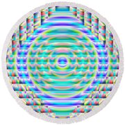 Abstract 717 Round Beach Towel