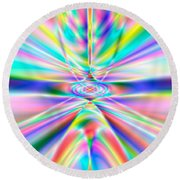 Abstract 723 Round Beach Towel