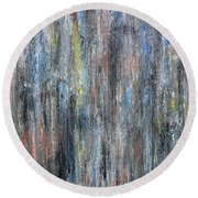 Abstract 726 Round Beach Towel