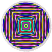 Abstract 727 Round Beach Towel