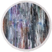 Abstract 741 Round Beach Towel