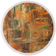 Abstract 751 Round Beach Towel