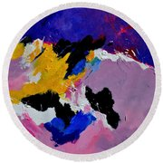Abstract 760170 Round Beach Towel
