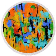 Abstract 7761701 Round Beach Towel