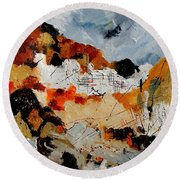 Abstract 780708 Round Beach Towel