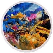 Abstract 7808082 Round Beach Towel