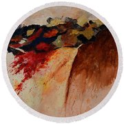 Abstract 7861 Round Beach Towel