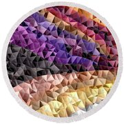 Abstract #795 Round Beach Towel