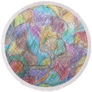 Abstract 801 Round Beach Towel