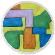 Abstract 809 Round Beach Towel
