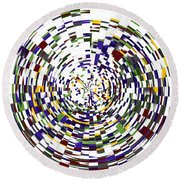 Abstract 813 Round Beach Towel