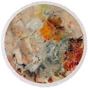 Abstract 880150 Round Beach Towel