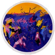 Abstract 880160 Round Beach Towel