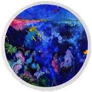 Abstract 8801602 Round Beach Towel