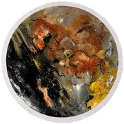 Abstract 8811113 Round Beach Towel