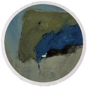 Abstract 88112041 Round Beach Towel