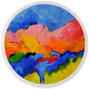 Abstract 88112060 Round Beach Towel